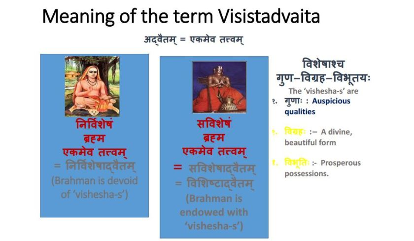 vishistadvait and advait